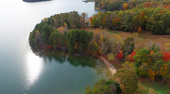 Smith Mountain Lake land for sale aerial view 5